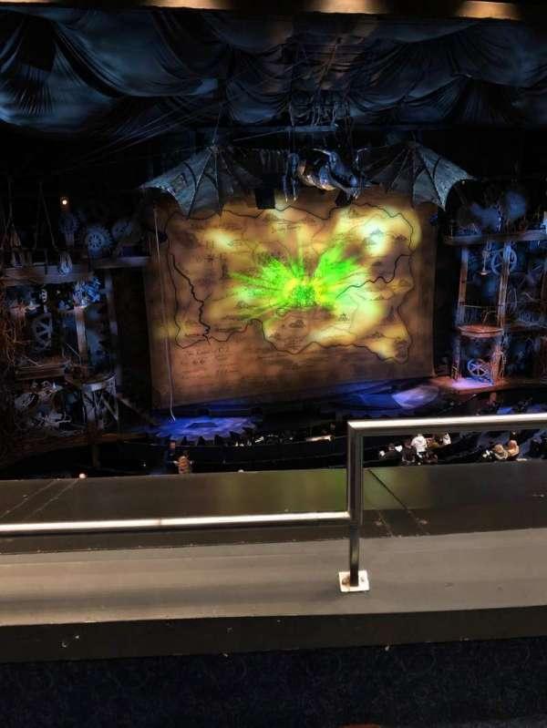 Gershwin Theatre, sección: Front Mezzanine L, fila: B, asiento: 1