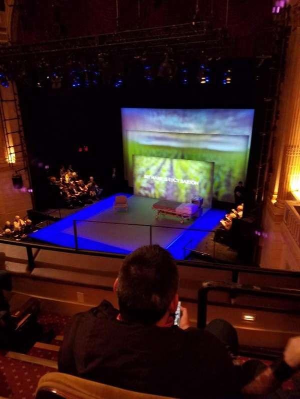 Samuel J. Friedman Theatre, sección: Mezzanine R, fila: a, asiento: 4
