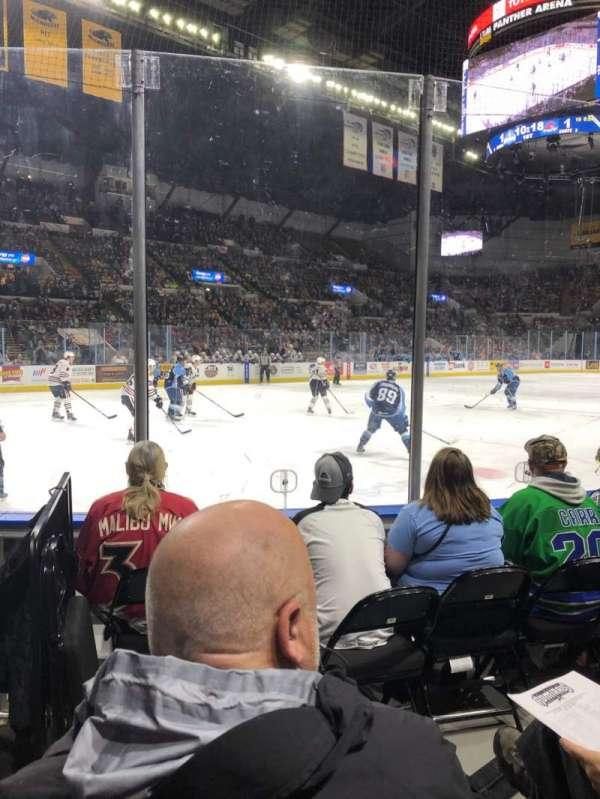 UW-Milwaukee Panther Arena, sección: 128, fila: 3