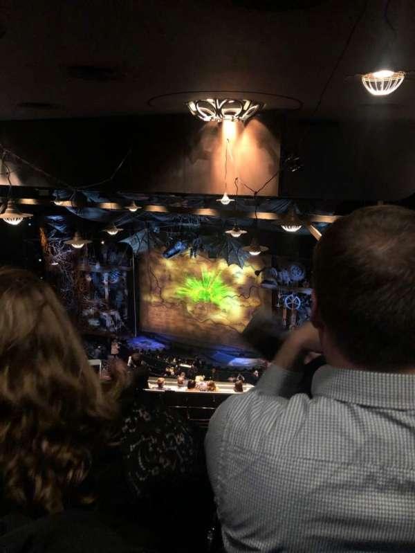 Gershwin Theatre, sección: Rear mezzanine R, fila: N, asiento: 26