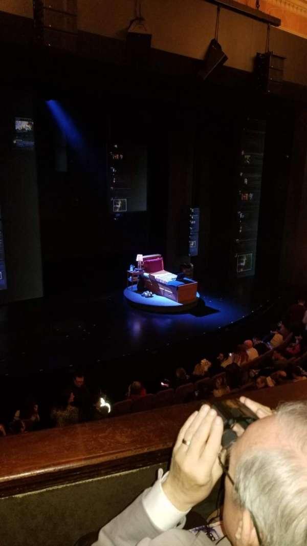 Music Box Theatre, sección: Mezzanine L, fila: B, asiento: 11