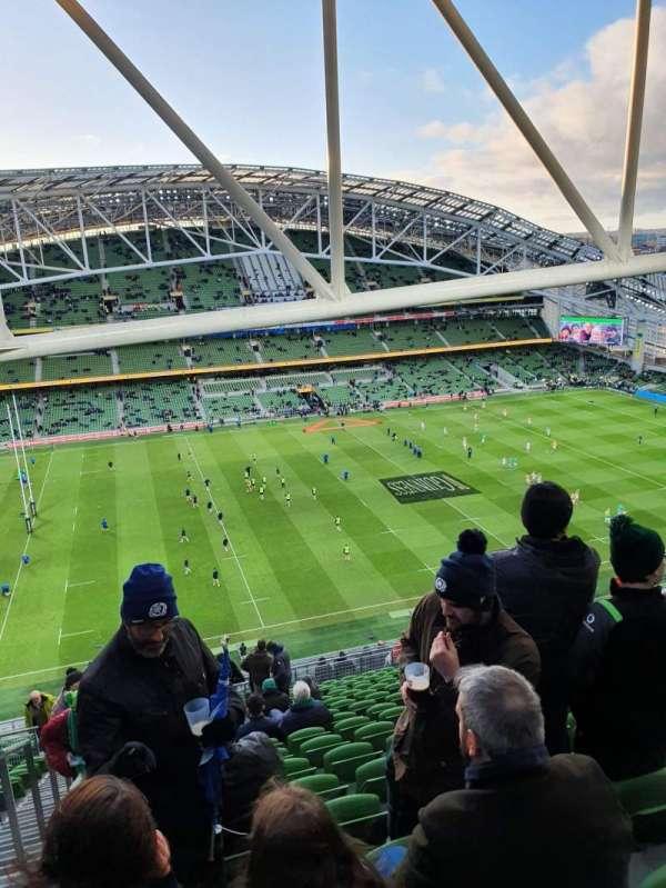 Aviva Stadium, sección: 507, fila: AA , asiento: 14