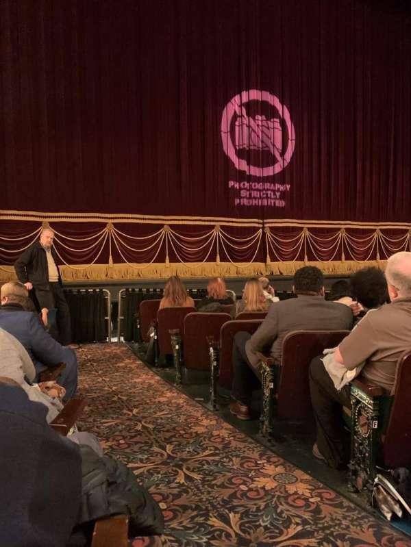 Hippodrome Theatre, sección: Left Orchestra, fila: J, asiento: 1