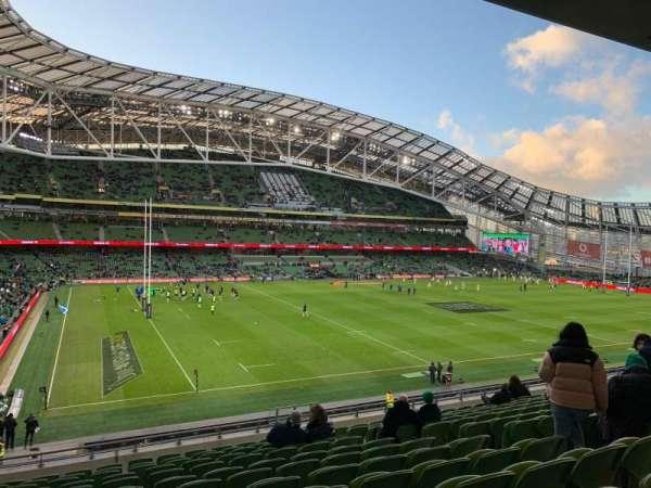 Aviva Stadium, sección: 309, fila: N, asiento: 22