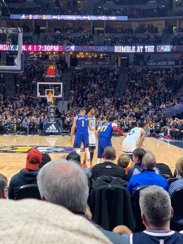Ball Arena, sección: 110, fila: FF, asiento: 11