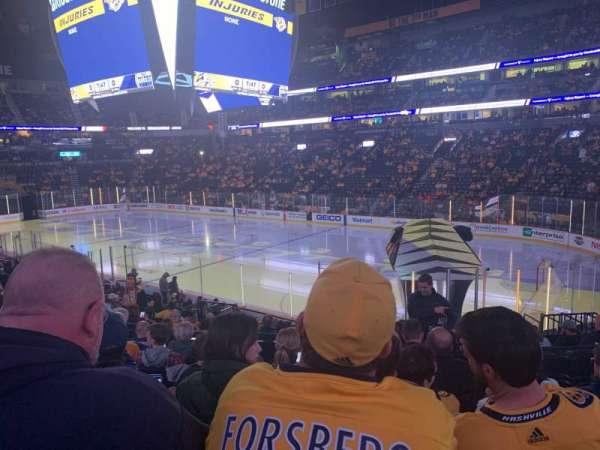 Bridgestone Arena, sección: 118, fila: H, asiento: 6