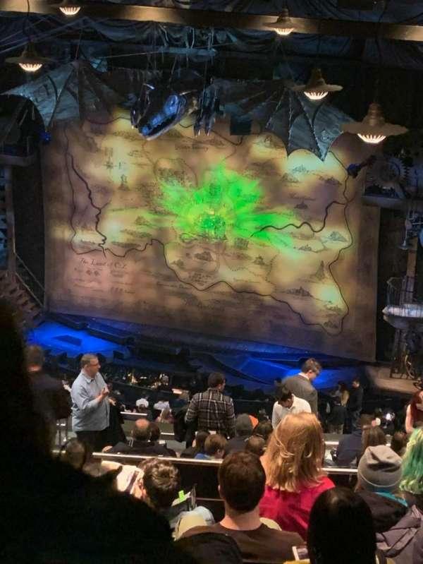 Gershwin Theatre, sección: Rear Mezzanine R, fila: N, asiento: 14