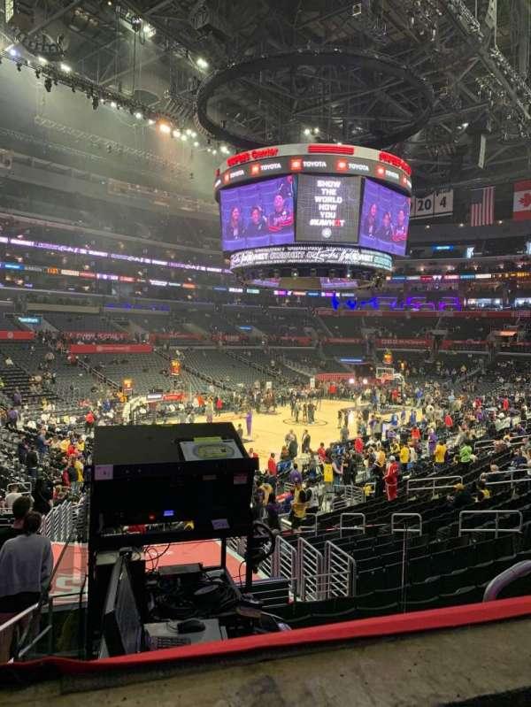 Staples Center, sección: PR9, fila: 1, asiento: 5