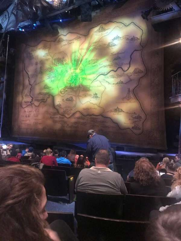 Gershwin Theatre, sección: Orchestra R, fila: E, asiento: 6