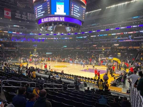 Staples Center, sección: 109, fila: 14, asiento: 1
