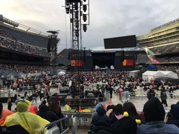 Soldier Field, sección: 124, fila: 8, asiento: 1
