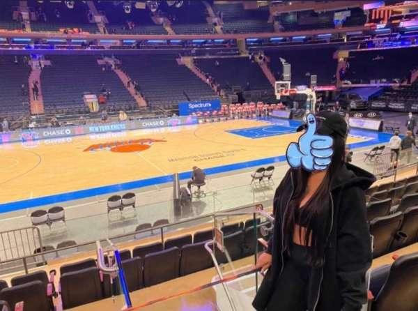 Madison Square Garden, sección: 117, fila: 6, asiento: 1