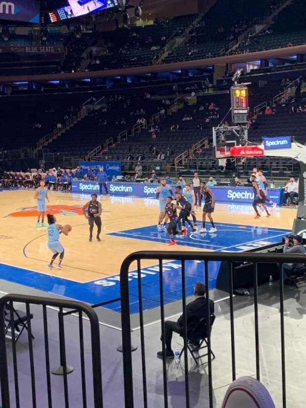 Madison Square Garden, sección: 120, fila: 6, asiento: 1