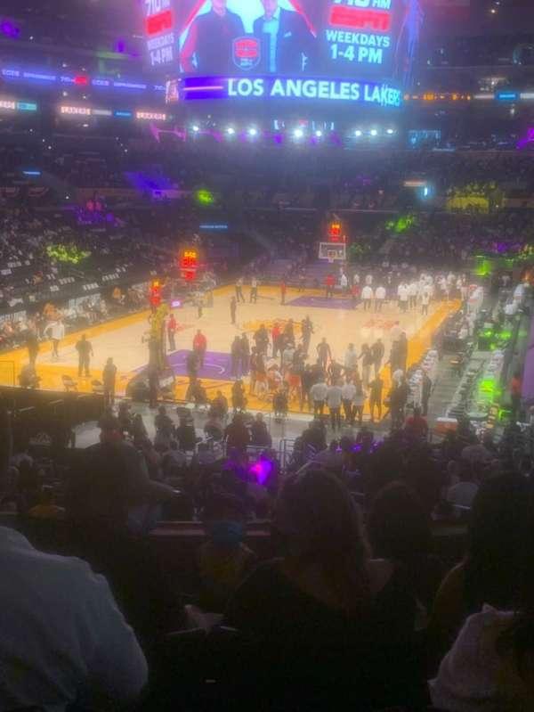Staples Center, sección: 206, fila: 5, asiento: 7