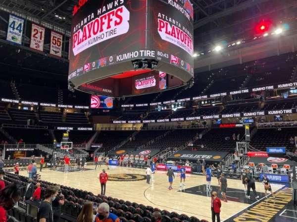 State Farm Arena, sección: 106, fila: F, asiento: 7