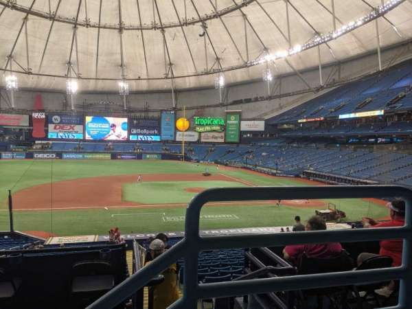Tropicana Field, sección: 117, fila: PP, asiento: 9