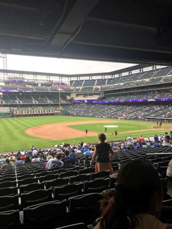 Coors Field, sección: 142, fila: 37, asiento: 5