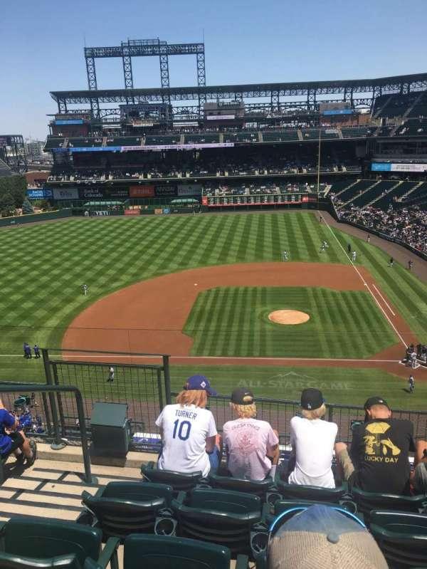 Coors Field, sección: L336, fila: 5, asiento: 20