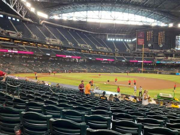Chase Field, sección: 114, fila: 22, asiento: 8