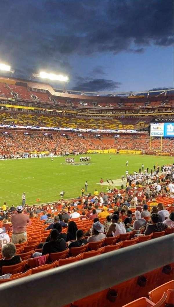 FedEx Field, sección: 226, fila: 1, asiento: 15