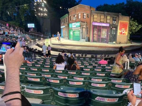 The Delacorte Theater in Central Park, sección: G, fila: M, asiento: 207