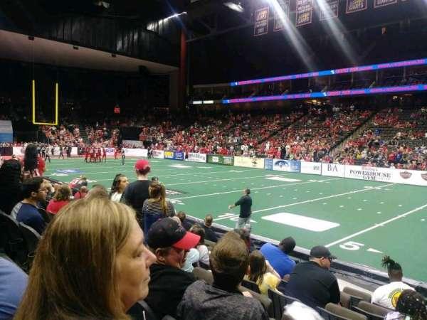 VyStar Veterans Memorial Arena, sección: 108, fila: G, asiento: 4