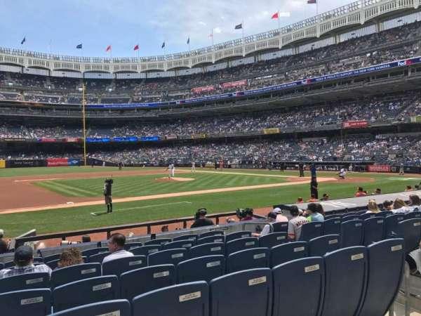 Yankee Stadium, sección: 125, fila: 1, asiento: 9