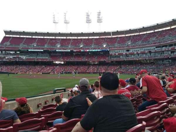 Great American Ball Park, sección: 110, fila: K, asiento: 9