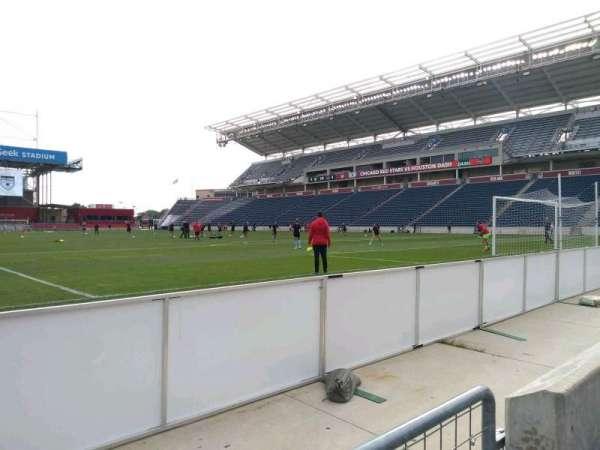SeatGeek Stadium, sección: 120, fila: 1, asiento: 1