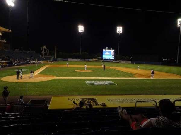 Richmond County Bank Ballpark, sección: 11, fila: M, asiento: 3