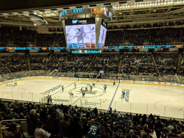 SAP Center at San Jose, sección: C10, fila: 1, asiento: 10
