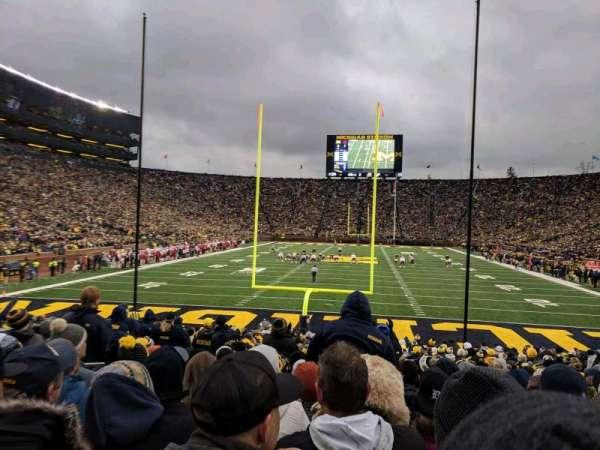 Michigan Stadium, sección: 34, fila: 23, asiento: 18