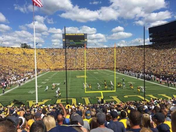 Michigan Stadium, sección: 12, fila: 34, asiento: 1
