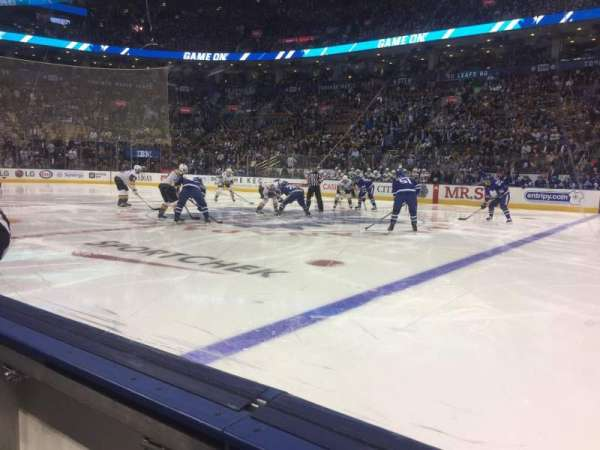 Scotiabank Arena, sección: 107, fila: 1, asiento: 18
