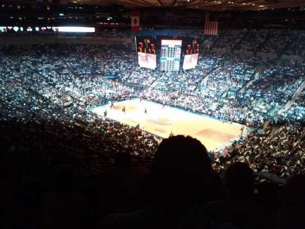 Madison Square Garden, sección: 419, fila: D, asiento: 7