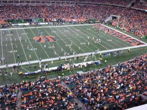 Paul Brown Stadium, sección: 342, fila: 1, asiento: 4