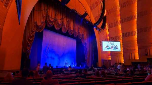 Radio City Music Hall, sección: Orchestra 7, fila: RR, asiento: 701