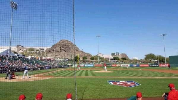 Tempe Diablo Stadium, sección: 15, fila: E, asiento: 9