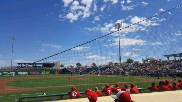 Goodyear Ballpark, sección: 107, fila: G, asiento: 6