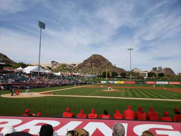 Tempe Diablo Stadium, sección: 16, fila: H, asiento: 7
