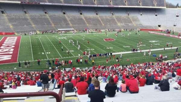 Camp Randall Stadium, sección: v, fila: 57, asiento: 36