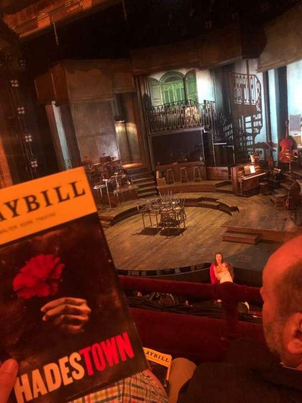Walter Kerr Theatre, sección: Mezzanine, fila: B, asiento: 10