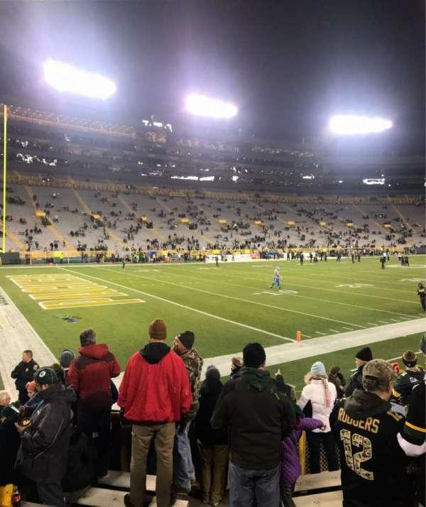 Lambeau Field, sección: 131, fila: 9, asiento: 1