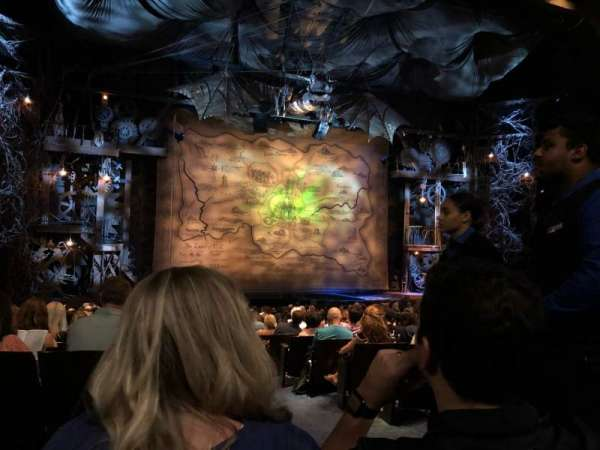 Gershwin Theatre, sección: Orch, fila: R, asiento: 1