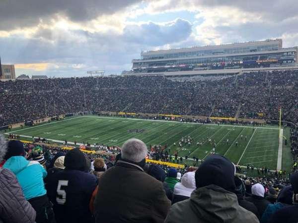 Notre Dame Stadium, sección: 107, fila: 25, asiento: 16