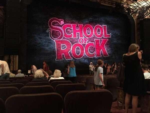 Winter Garden Theatre, sección: Orchestra L, fila: M, asiento: 3