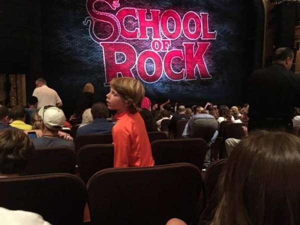 Winter Garden Theatre, sección: Orchestra L, fila: M, asiento: 5