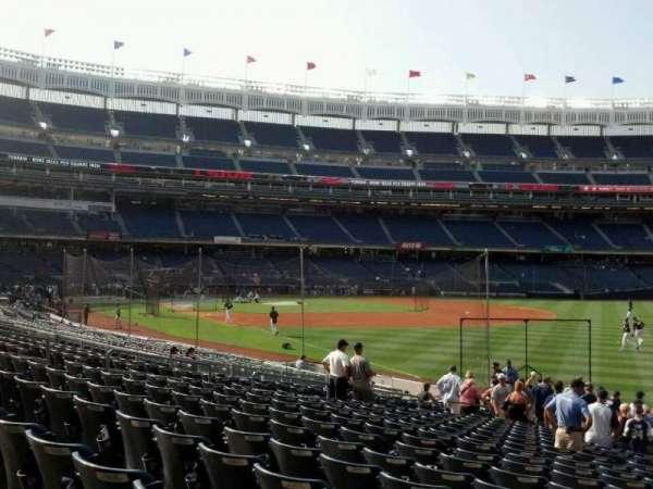 Yankee Stadium, sección: 109, fila: 20, asiento: 18