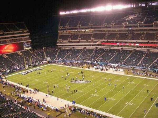 Lincoln Financial Field, sección: 230, fila: 21, asiento: 16