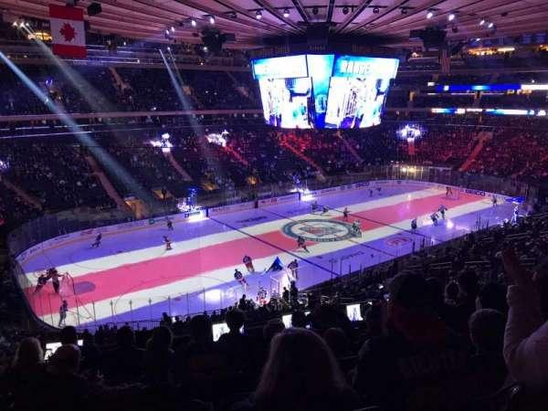 Madison Square Garden, sección: 208, fila: 7